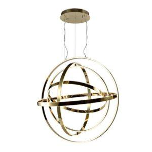 Lampa wisząca ze złotymi pierścieniami