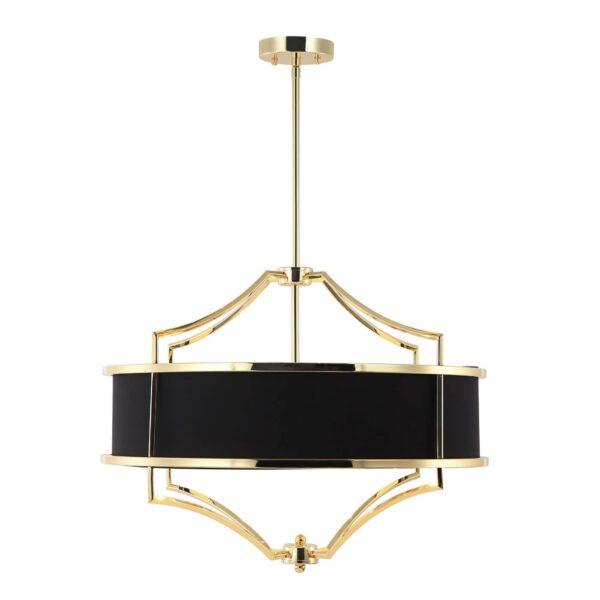 Lampa sufitowa czarna ze złotymi elementami