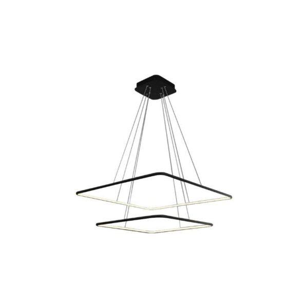 Lampa, która składa się z dwóch kwadratowych opraw ułożonych w poziomie