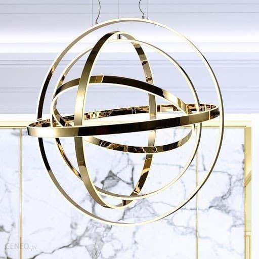 Lampa składająca się ze złotych pierścieni